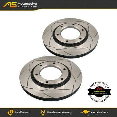 DBA329S Brake Disc Rotor Pair 4X4 Survival Series T2 Slotted DBA