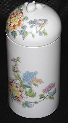 Elizabeth Arden Pottery Lidded Jar Pot Kutani Made In Japan Floral Pattern