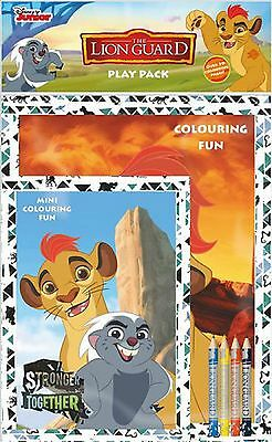 Disney The Lion Guard Play Pack Colouring Book Pad Pencil Crayons Activity Set