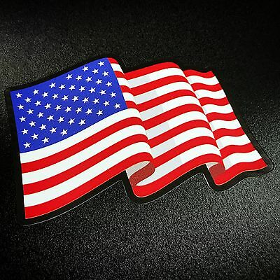 American Flag Wavy - Sticker