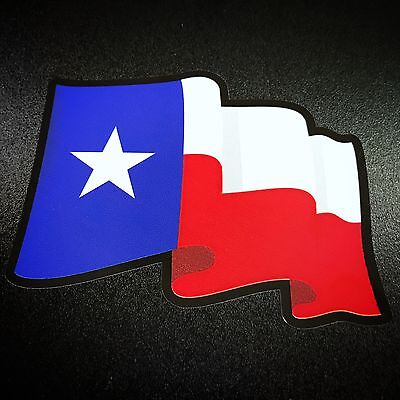 Texas Flag Wavy - Sticker