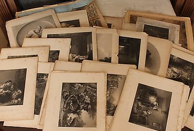 Large Collection of Victorian Prints/Plates/Lithograph, Various Sizes