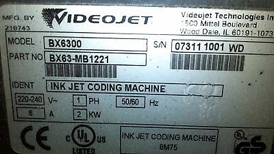 BX6300 VideoJet Single Head Printer, used in good shape