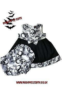 SALE! Spooky Gothic Punk Baby  Dress by Madame Le Goth FREE UK P&P