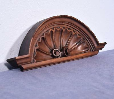 """*15"""" French Antique Pediment/Crest in Walnut Wood Shell"""