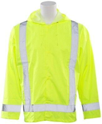 ERB SAFETY S373 MD/LG Lime Rain Jacket 61495 HIVIZ  Class 3 Rated
