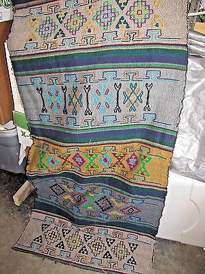 Multi-Color Hand Loomed Wool Yard Goods Fabric from Nepal Purple Gold Green Blue