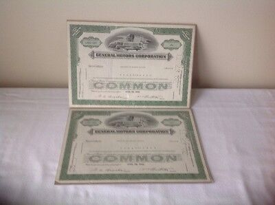 1956 General Motors Corporation Stock Certificates L461-058 And L461-065