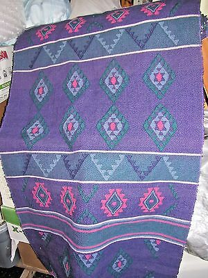 Multi-Color Hand Loomed Wool Yard Goods Fabric from Nepal in Purple, Pink, Green