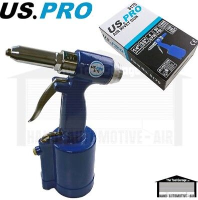 BERGEN Tools Air Hydraulic Pneumatic Riveter Rivet Riveting Gun Set NEW 8160