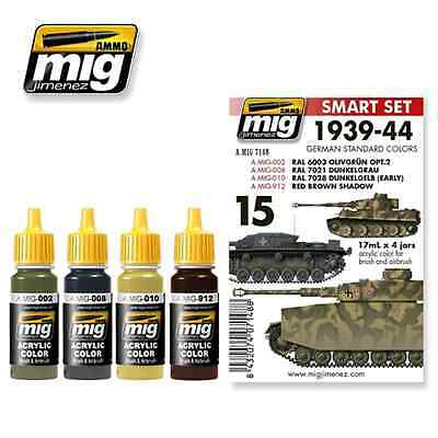 AMMO OF MIG: set colori 1939-1944 GERMAN STANDARD COLORS