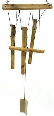 """23"""" Hanging Bamboo Wooden Wind Chimes Tubes Outdoor Bells Garden Decoration"""