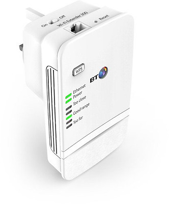 BT Wi-Fi Wireless Extender 300 Signal Booster - Wifi Network range extension