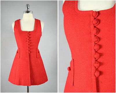 vintage 70s wool red vest with buttons and pockets vint. 1970s vtg 70's vintage