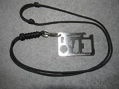 Adjustable Paracord Lanyard Multi Tool *Gift Him Her EDC Survival Camping Gadget