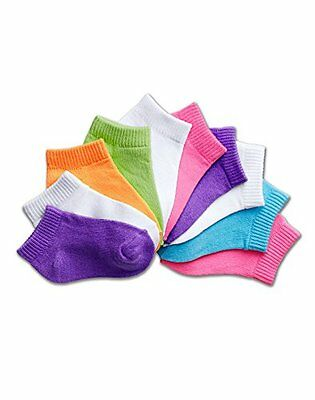 HNBR-38257201994-Hanes Girls Toddler Low Cut EZ Sort, Assorted - 12 - 24M/10 pa