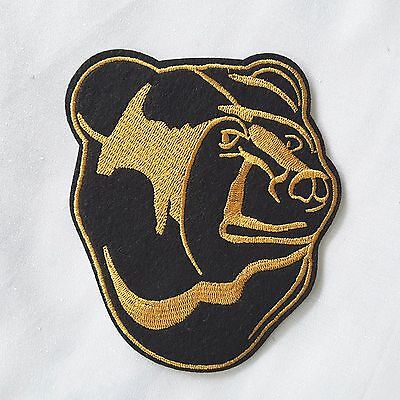 BLACK Bear Iron-on Embroidered Emblem Pet Badge Patch Cute Wild Animal Applique