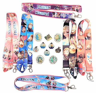 Frozen Themed Starter Lanyard Set with 5 Disney Park Trading Pins ~ Brand NEW