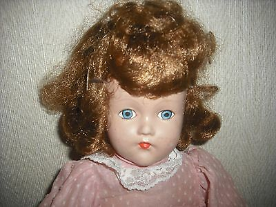 "Beautiful Vintage 19"" 1930's Composition/Cloth Doll"
