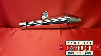 Cafe Racer Endurance Style Stainless Steel Exhaust *new* Free Delivery