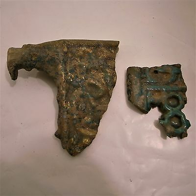 Islamic fragments of a Tabouret 13th century 5.5 and 3.5 inches