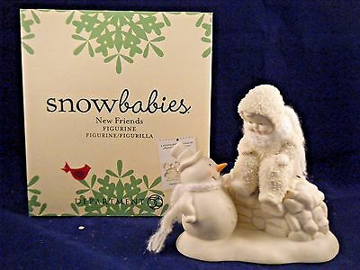 "Department 56 Snowbabies New in Box ""New Friends""  4045769"