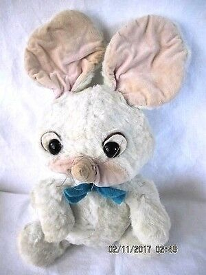 """Pixie Mouse 12"""" Plush Doll Hanna-Barbera Toy, Vintage 1960's"""