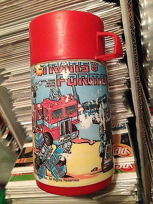 Transformers Generation One G1 Thermos 1984 Lid & Cup GOT AN EMPTY LUNCHBOX?