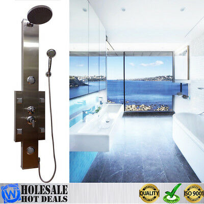 Premium Quality Bathroom Shower Panel Hydrotherapy Massage System StainlessSteel