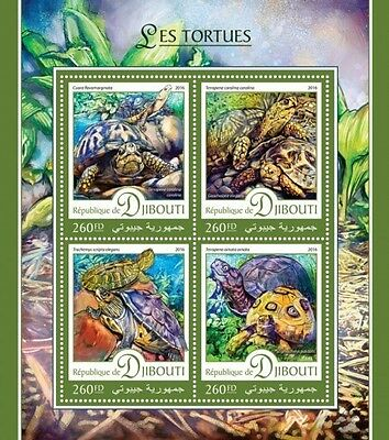 Z08 IMPERFORATED DJB16403a DJIBOUTI 2016 Turtles MNH