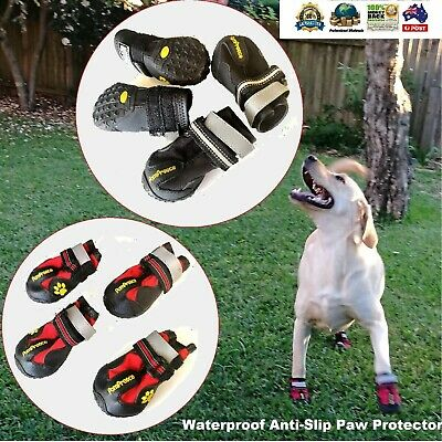 PomPreece Pet Dog Cat Puppy Cat Shoes Boots Waterproof Anti-Slip Paw Protector