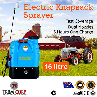 NEW 16L Electric Backpack Weed Sprayer Farm Garden Animal Spray 12V Fast Charge
