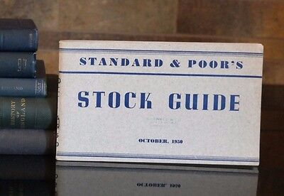 Vintage Standard & Poor's STOCK GUIDE 1950, Caswell & Co, Chicago