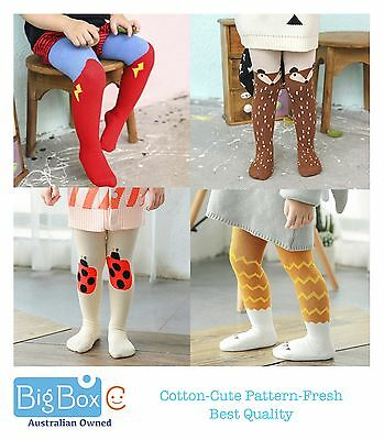 Baby Kids Adorable Patterns Cotton Warm Bottoms Tights Stockings Pants Leggings
