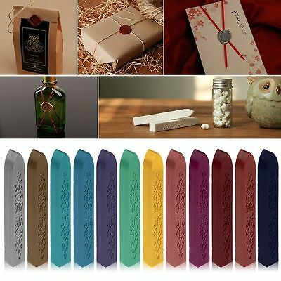 Timbro per Sigillo Ceralacca Stamp Sealing Candle Wax Sticks Envelope Letter Set