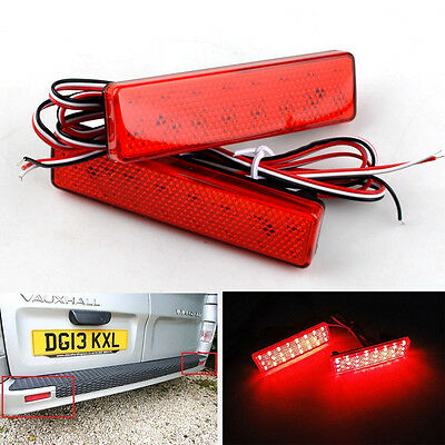 Vauxhall Opel Vivaro Movano LED Rear Bumper Reflector Tail Stop Light Primastar