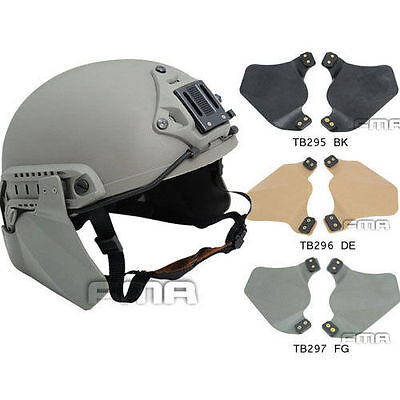 FMA Airsoft Paintball Tactical Side Rail MICH Ear Protection Cover Fast Helmet