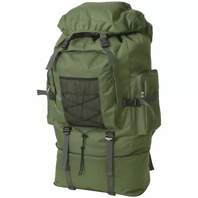Army Military Style Backpack Rucksack Travel Hiking Camping Bag XXL 100 L Green