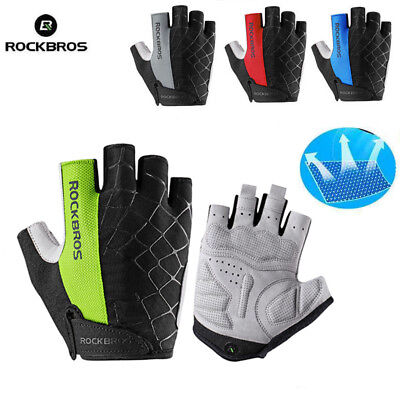 ROCKBROS Cycling Half Finger Short Gloves Breathable Anti-Static Gloves 4 Colors