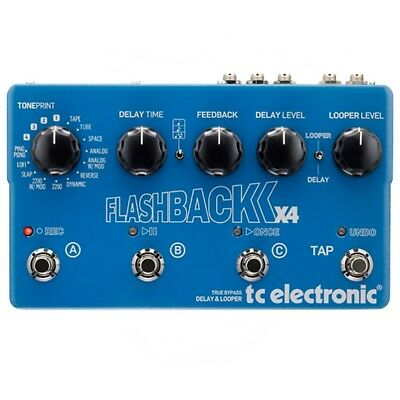 TC Electronic Flashback X4 Echo/Delay and Looper Guitar Effects Pedal