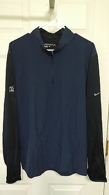 Nike Golf Dri-Fit 1/2 Zip Cover-Up Midnight Navy/dark Obsidian New