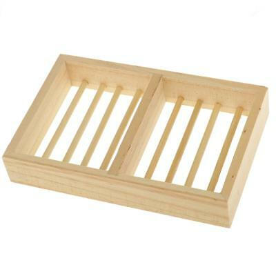 New Natural Wood Bathroom Shower Soap Tray Dish Storage Holder Plate Tool