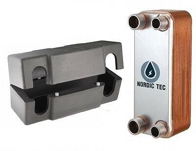 Stainless steel PLATE HEAT EXCHANGER NORDIC TEC 25-65kW Ba-12 + INSULATION BOX