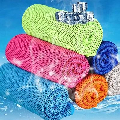 90x33cm Ice Towel Instant Cooling Towel Heat Relief Reusable Fitness Yoga Towels