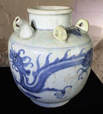 Chinese Swatow ware kendi with dragon, 17th century