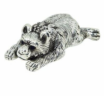 Collectable Quality Victorian Style Bear Figurine 925 Sterling Silver