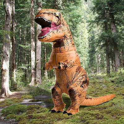 T-Rex Jurassic Park World DINOSAUR Inflatable Adult Costume TRex Jurrassic Hot