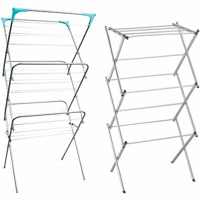 3 Tier Airer Cloth Dryer Metal Clothes Laundry Folding Horse Rack Indoor Outdoor