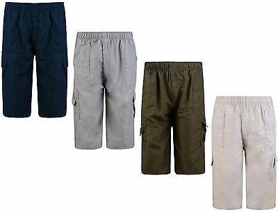 Boys Shorts Combat Cargo Multi Pocket Shorts 4-12 Years Bnwt
