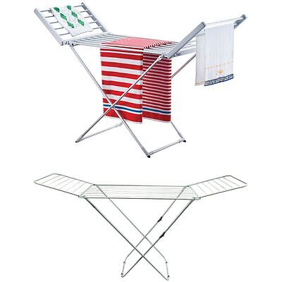 Winged Airer Folding Laundry Clothes Dryer Portable Cloth Heat Rack Indoor